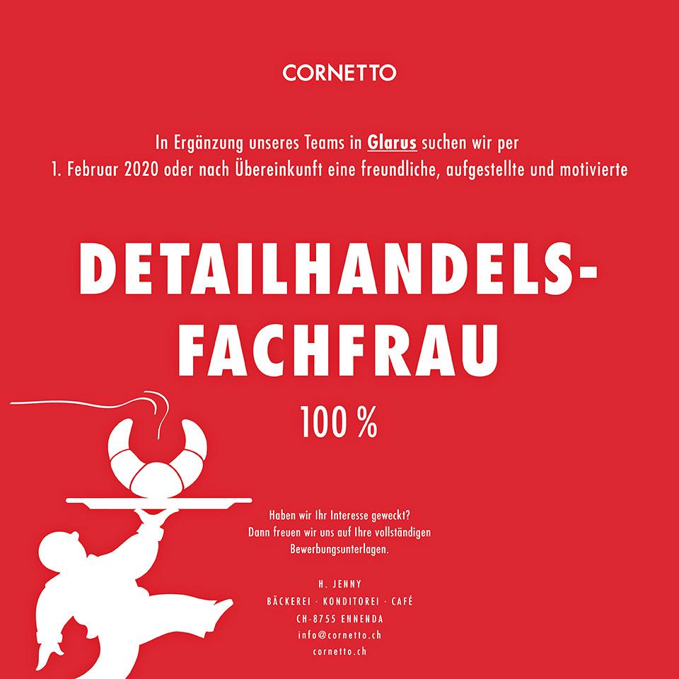180312_Cornetto-Stelleninserat_Detailhandelsfachfrau100%_Glarus